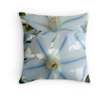 Puschkinia scilloides related to the Hyacinth Throw Pillow