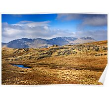 Crinkle Crags & Bow Fell - Cumbrian Lake District Poster