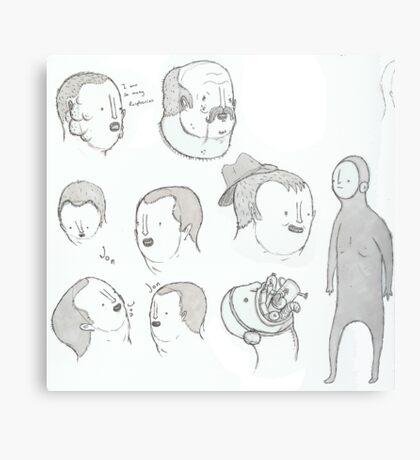 More pen sketching Metal Print