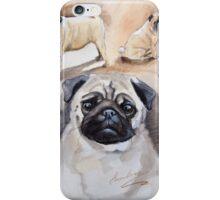 Pug shots iPhone Case/Skin