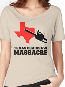 Texas Chainsaw Massacre, Minimalist Design Quote Women's Relaxed Fit T-Shirt