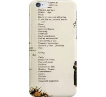 Language of Flowers Kate Greenaway 1884 0041 Descriptions of Specific Flower Significations iPhone Case/Skin