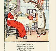 Mother Goose or the Old Nursery Rhymes by Kate Greenaway 1881 0029 Polly Put the Kettle on by wetdryvac