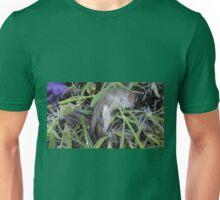 Dead bird in lavender. Unisex T-Shirt