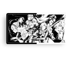 Fire Emblem if / Fates - Nohr and Hoshido (Black & White) Canvas Print