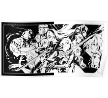 Fire Emblem if / Fates - Nohr and Hoshido (Black & White) Poster
