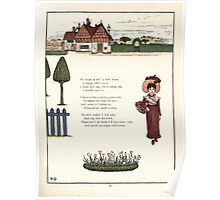 Under the Window Pictures and Rhymes for Children Edmund Evans and Kate Greenaway 1878 0065 Little Red House Poster