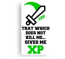 """That Which Does Not Kill Me...Gives Me XP"" RPG Game Quote Canvas Print"