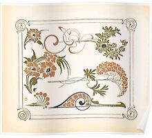 Maurice Verneuil Georges Auriol Alphonse Mucha Art Deco Nouveau Patterns Combinaisons Ornementalis 0053 Poster
