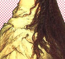 """I hear her hair is insured for $10,000"" Empress Elizabeth of Austria  Sticker"