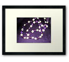 Precious Purple Framed Print
