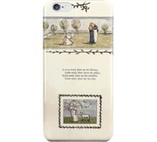 Under the Window Pictures and Rhymes for Children Edmund Evans and Kate Greenaway 1878 0027 Little Wind Blow iPhone Case/Skin