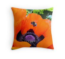 Poppy Bee Throw Pillow