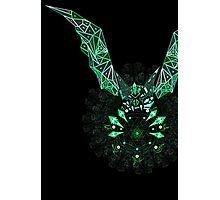 Sacred geometry triangle bat Photographic Print