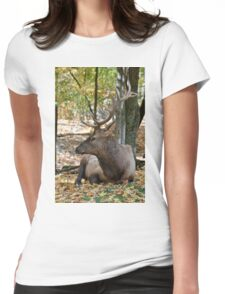 Elk -male Womens Fitted T-Shirt