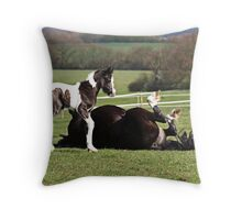 edwina and mum Throw Pillow