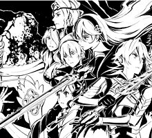 Fire Emblem if / Fates - Nohr and Hoshido (Black & White) by AlfredKamon