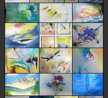 A collection of david hatton`s artworks by david hatton