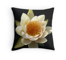 first water lily of the season Throw Pillow