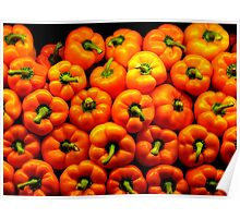 Orange Peppers Poster