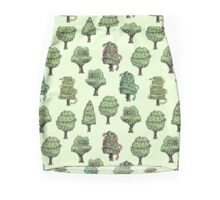 Decorated Trees Pencil Skirt