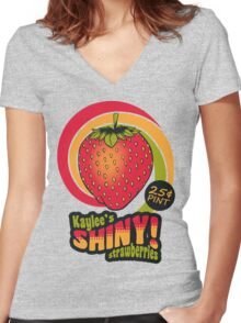 Shiny Berries Women's Fitted V-Neck T-Shirt