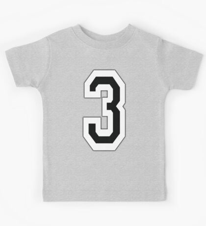 3, TEAM, SPORTS, NUMBER 3, THREE, THIRD, Competition Kids Tee