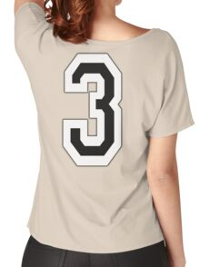 3, TEAM, SPORTS, NUMBER 3, THREE, THIRD, Competition Women's Relaxed Fit T-Shirt