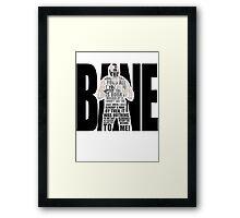 Bane typography Framed Print