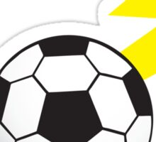 Football Soccer ball with a lightning bolt Sticker
