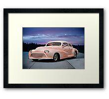1946 Oldsmobile 'Custom' Sedanette 3Q Front Framed Print