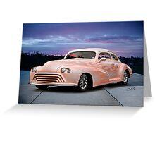 1946 Oldsmobile 'Custom' Sedanette 3Q Front Greeting Card