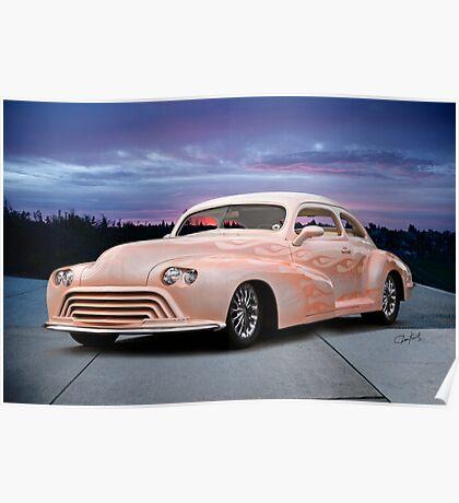 1946 Oldsmobile 'Custom' Sedanette 3Q Front Poster
