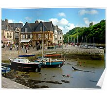 Port of St Goustan in Brittany, France Poster