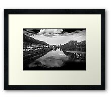 View From The Wellington To The Shakey Framed Print