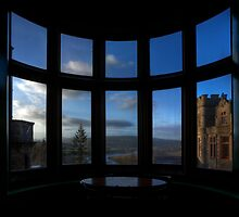 View from Carbisdale Castle through dirty windows. by Peter Ellison