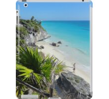 Mexican Beach from Mayan Ruins iPad Case/Skin