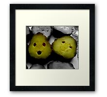 Happy Pickles Framed Print