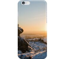Ramshaw rocks in the snow iPhone Case/Skin