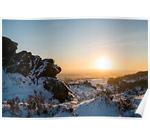 Ramshaw rocks in the snow Poster