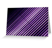Purple Blinds Greeting Card