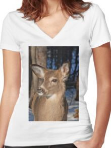 I'm too cute for words! Women's Fitted V-Neck T-Shirt