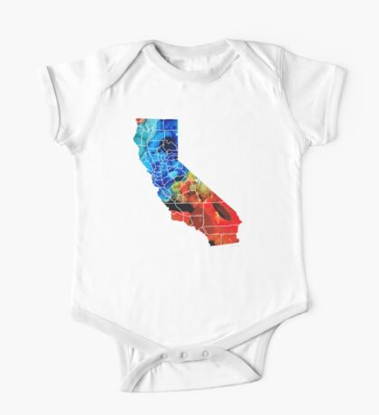 California - Map Counties By Sharon Cummings One Piece - Short Sleeve