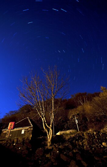 Portree Star Trails by Roddy Atkinson
