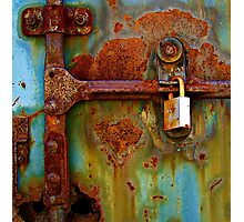 Locked Down Blues Photographic Print