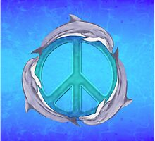 3 Dolphins Peace Symbol by BailoutIsland