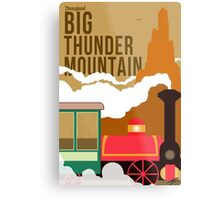 Big Thunder Mountain Poster Metal Print