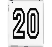 20, TEAM SPORTS, NUMBER 20, TWENTY, TWENTIETH, Competition,  iPad Case/Skin