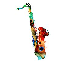 Colorful Saxophone by Sharon Cummings Photographic Print