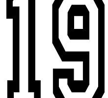 TEAM SPORTS, NUMBER 19, NINETEEN, NINETEENTH, Competition,  by TOM HILL - Designer